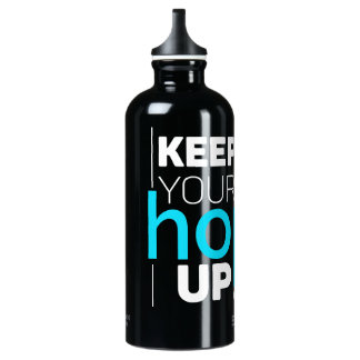 Keep Your Hopes Up Typography Water Bottle