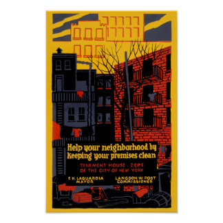 Keep Your Neighbohood Clean Poster
