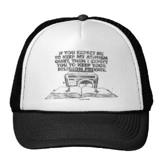 Keep Your Religion Private Mesh Hats