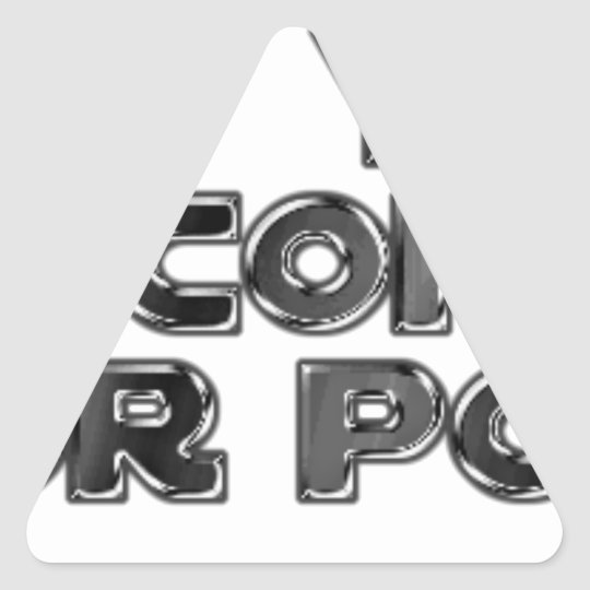 Keep your stupid comments triangle sticker