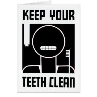 Keep Your Teeth Clean Card