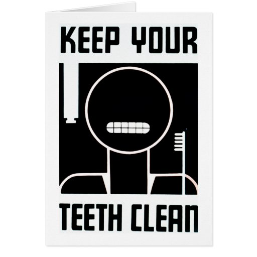 Keep Your Teeth Clean Cards