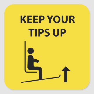 Keep your tips up tip jar sticker