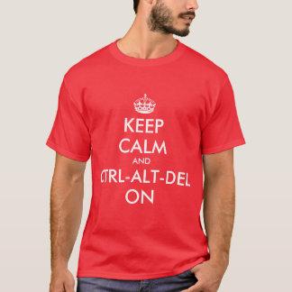 Keepcalm and ctrl on tee shirt