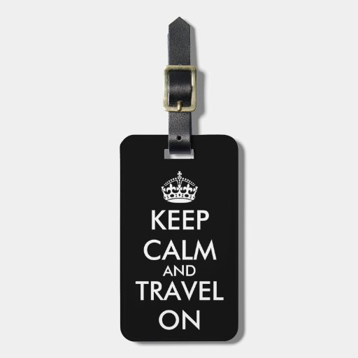 KeepCalm and travel on luggage tag | Custom label
