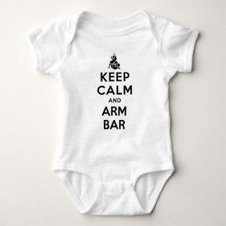 keepcalmand arm bar baby bodysuit