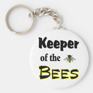 keeper of the bees basic round button key ring