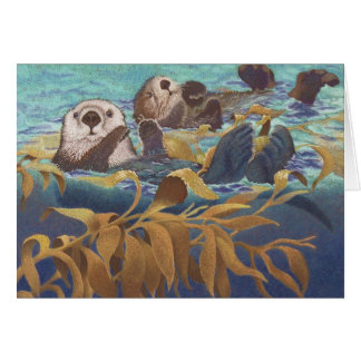 Keepers of the Kelp Sea Otters Card