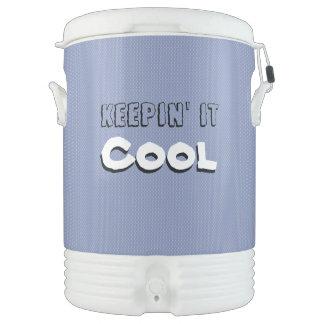 Keepin' it Cool Ice Drink Camping Dispenser/Cooler Cooler