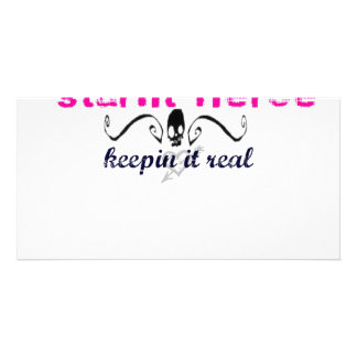 Keepin it real photo card template