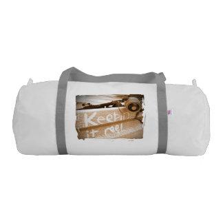Keepin it Reel brown beige beach ute fishing rod Gym Duffel Bag