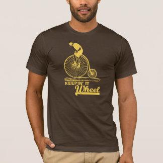 Keepin' it 'Wheel' Funny T-shirt (yellow)