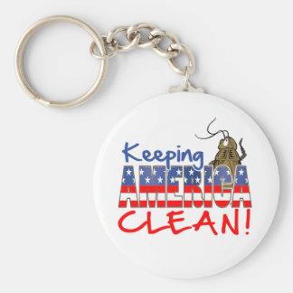 KEEPING AMERICA CLEAN KEY CHAIN