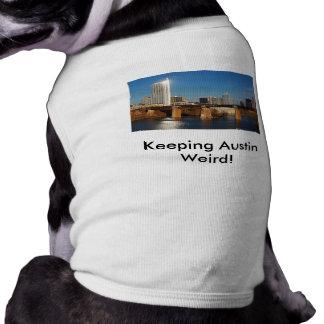 Keeping Austin Weird! with Skyline Sleeveless Dog Shirt