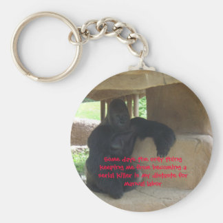 Keeping me from becoming a serial killer basic round button key ring