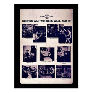 Keeping War Workers Well And Fit Postcard