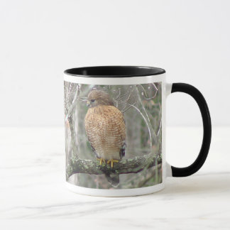 Keeping Watch Hawk Mug