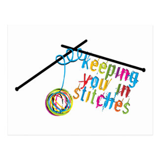 Keeping You in Stitches Postcard