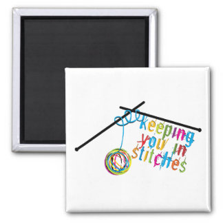 Keeping You in Stitches Square Magnet