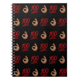 #Keepit100 Spiral Notebook
