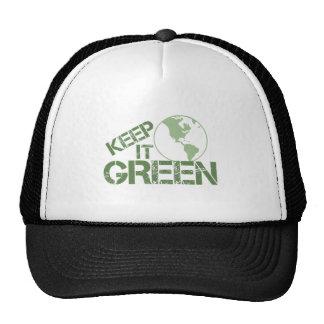 keepitgreen trucker hat
