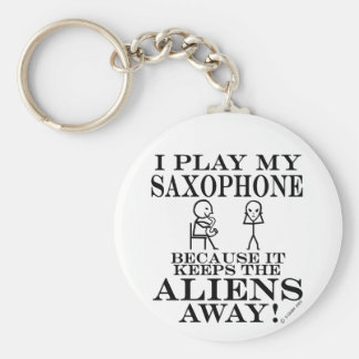 Keeps Aliens Away Saxophone Key Ring