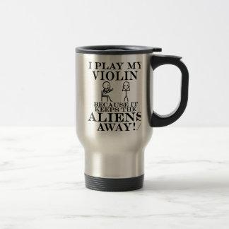 Keeps Aliens Away Violin Travel Mug