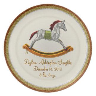 Keepsake Baby Plate - Rocking Horse (Personalized)