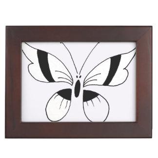 Keepsake Box, black & white butterfly. Keepsake Box