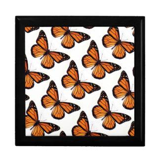 Keepsake Box/Monarch Butterflies Large Square Gift Box