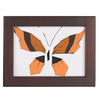 Keepsake Box, orange butterfly Keepsake Boxes