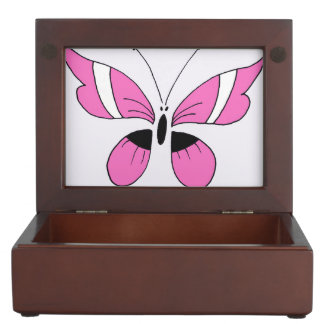 Keepsake Box, pink butterfly Memory Boxes