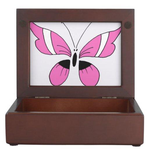 Keepsake Box, pink butterfly
