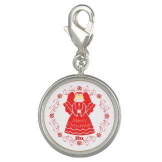 Keepsake Custom Red Christmas Angel with Candle