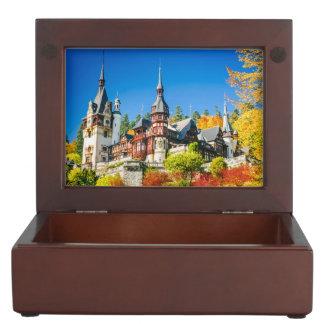 Keepsake gift box Peles castle Sinaia