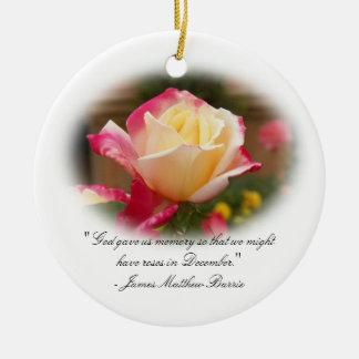Keepsake Ornament - Roses in December