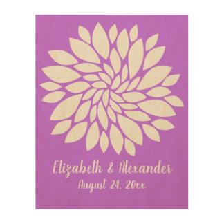 Keepsake Purple Wedding Guest Sign