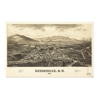 Keeseville New York (1887) Canvas Print