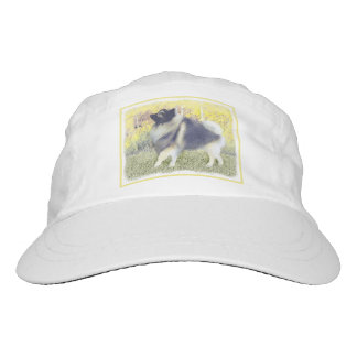 Keeshond Aspen Painting - Cute Original Dog Art Hat