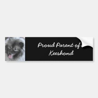 Keeshond Bailey Painting - Cute Original Dog Art Bumper Sticker