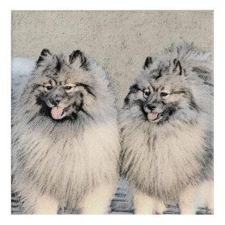Keeshond Brothers 2 Painting - Original Dog Art