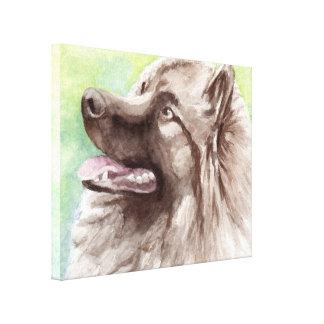Keeshond Canvas Dog Portrait