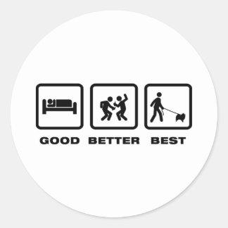 Keeshond Classic Round Sticker