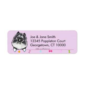 Keeshond Cute Dangles Thistle Return Address Label