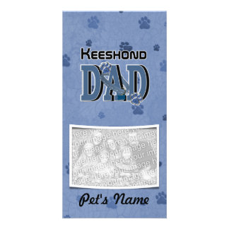 Keeshond DAD Customized Photo Card