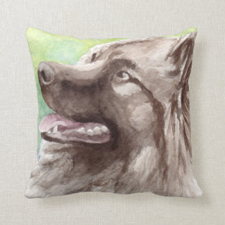Keeshond Dog Gifts Throw Pillow