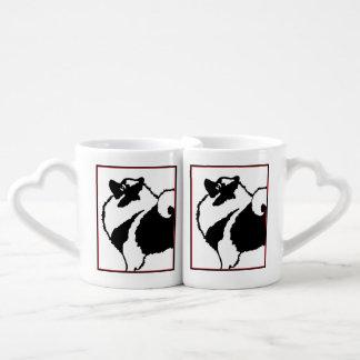 Keeshond Graphics  - Cute Original Dog Art Coffee Mug Set
