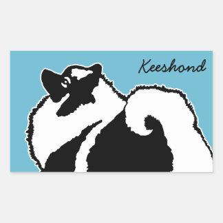 Keeshond Graphics  - Cute Original Dog Art Rectangular Sticker