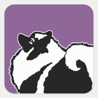 Keeshond Graphics  - Cute Original Dog Art Square Sticker