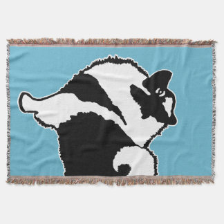 Keeshond Graphics  - Cute Original Dog Art Throw Blanket